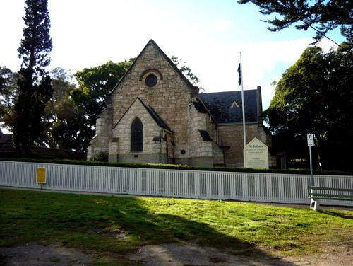 St John's Anglican Church (2009). George Morce, using local limestone, built the nave of this church in 1875. He added the transept in 1889