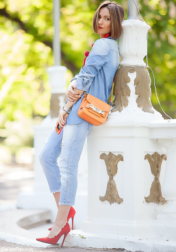 how to wear total denim look with Proenza Schouler PS11 by GalantGirl.com