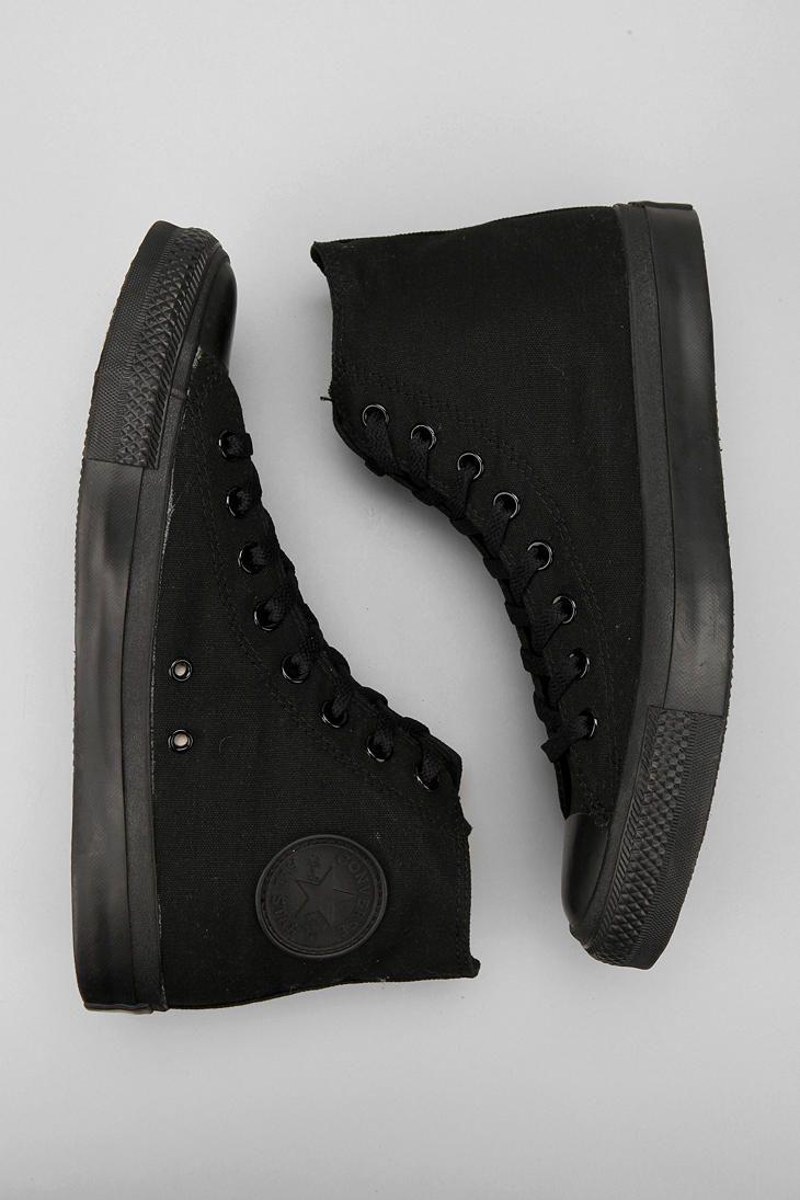 cheap black high top converse