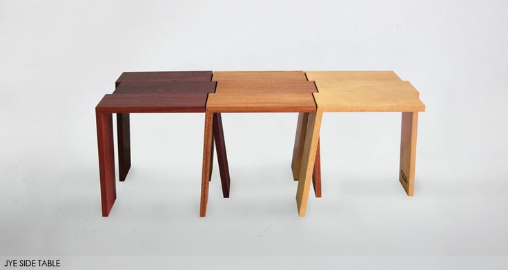 Jye Table - Assorted solid timbers and innovative design connect in a way thats fun and stylish.