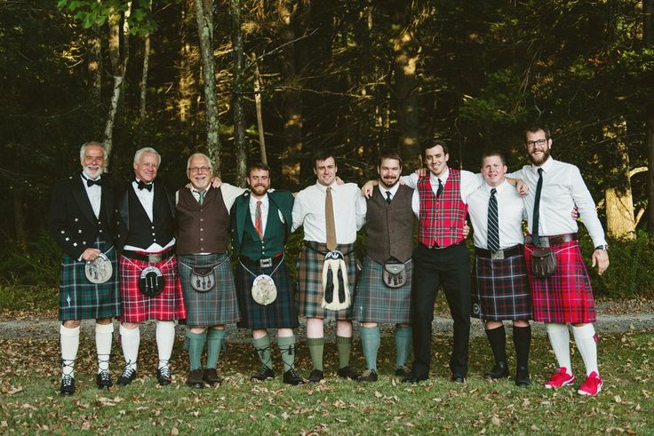 It's quite alright to let your guests sport their own family tartan. #Scottish Wedding