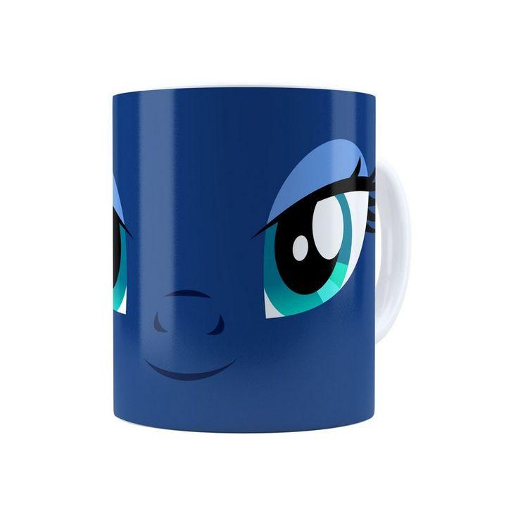 Caneca Porcelana My Little Pony Princesa Luna Branca