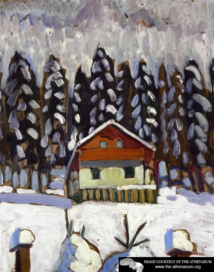 Gabriele Munter--an appropriate painting for our friends in the northeast.