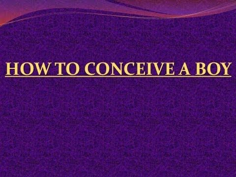 positions & diet to conceive a boy
