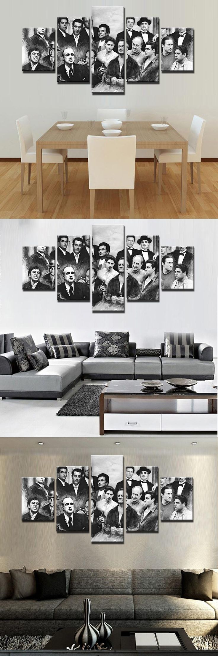 Movie Poster Room Deco Painting On Canvas Modern Home Prints Liveing Room Deco 5 Pieces Top Fashion Wall Art Decorate Poster