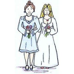 Lindsay Mason - BRIDE&BRIDE - dřevěné gumové razítko - scrapbook, scrapbooking