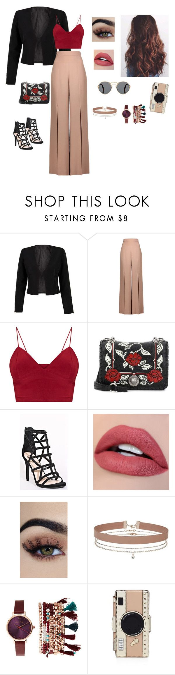 """❤️"" by cheerishy ❤ liked on Polyvore featuring WithChic, Cushnie Et Ochs, Miu Miu, Miss Selfridge, Jessica Carlyle, Kate Spade, Prada, outfit, red and stylish"