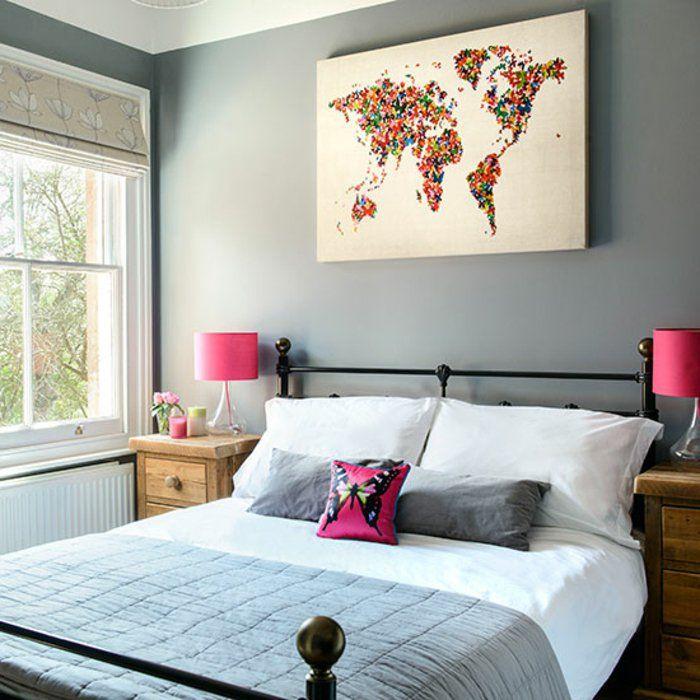 575 best Bedroom design images on Pinterest Bath, Bath room and - peinture sur meuble bois