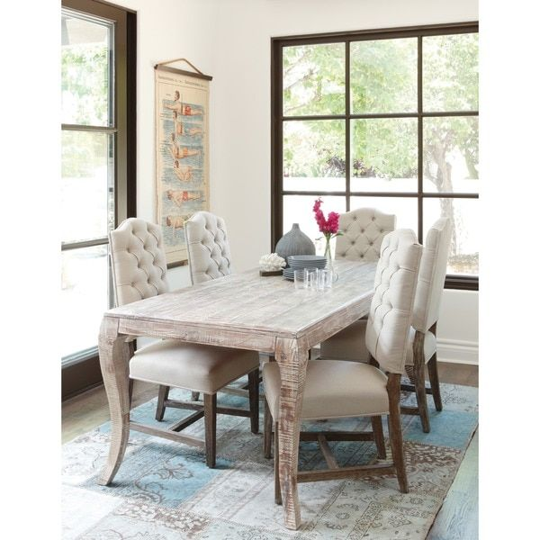 Kosas Home Cosmo Dining Table 72 Inch Create An Upscale Shabby Chic Look With