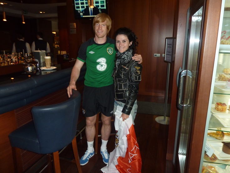 With Paul McShane, an other kind Irish football player!