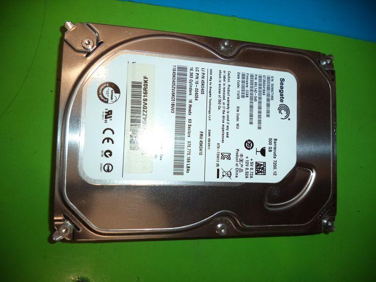 Excelentes discos rigidos de PC, capacidad de 500 Gb son usado en perfectas condiciones  SATA 3, 16MB Cache, 7200 RPM  Se entrega totalmente formateado,garantia de 48 hs de prueba  Se hacen envios a todo el pais.  Se retira zona avellaneda.