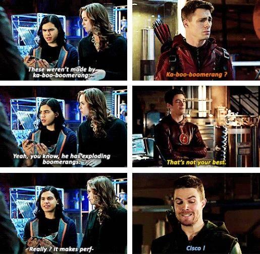 Oliver, Roy, Barry, Caitlin & Cisco #Arrow #TheBraveAndTheBold