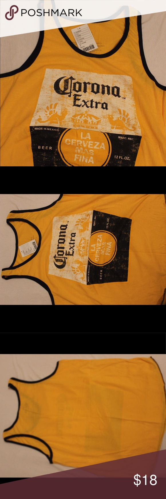 La corona más fina beach tank This was bought at urban outfitters but never worn is a great beach tank. Design is corona beer it's NWT and not asking for the original price Urban Outfitters Shirts Tank Tops