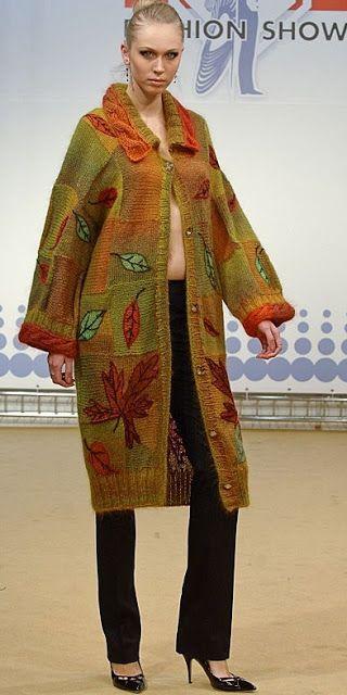 Local fashion: Beautiful handknit dresses by Anna Lesnikova