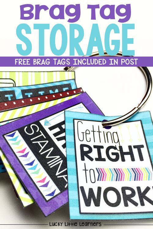 Brag tags are a new form of classroom management.  They are perfect for positive reinforcement of behavior and academic goals.  Brag tags can be stored and display in a variety of ways.  This post includes many ideas along with a free parent letter and some free brag tags!