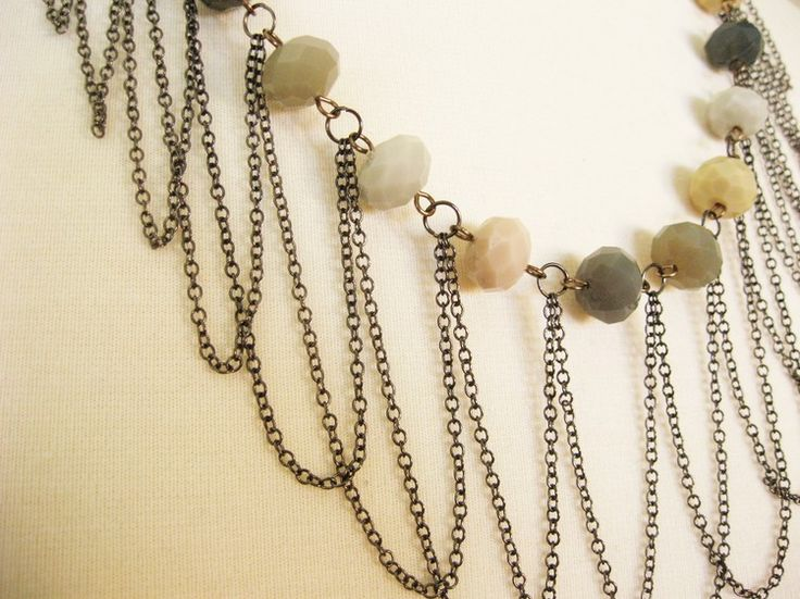 Draped Chain Necklace - How Did You Make This? | Luxe DIY. Also other basic tutorials.