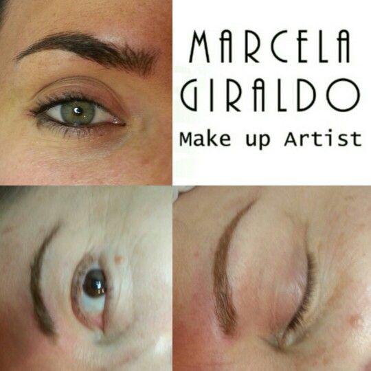 Diferente forma de cejas tipo de pigmento acudieron a microbrows para realzar lo natural!!!