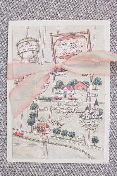custom watercolor map   Harwell Photography #wedding