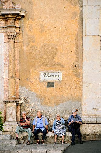 In front of Santa Caterina - Taormina - Sicily. #italy #sicily #yoga…