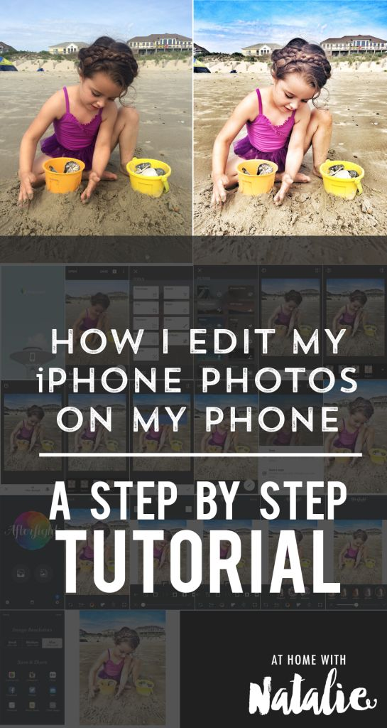 How I edit my iPhone Photos on my phone- A Step by Step TUTORIAL