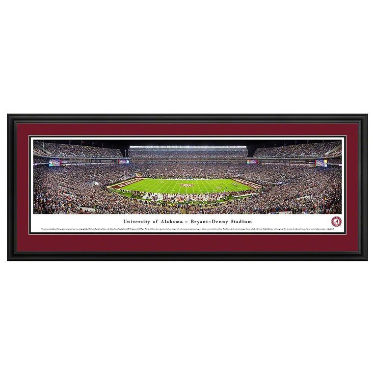 Alabama Crimson Tide Football Stadium Framed Wall Art, Multicolor