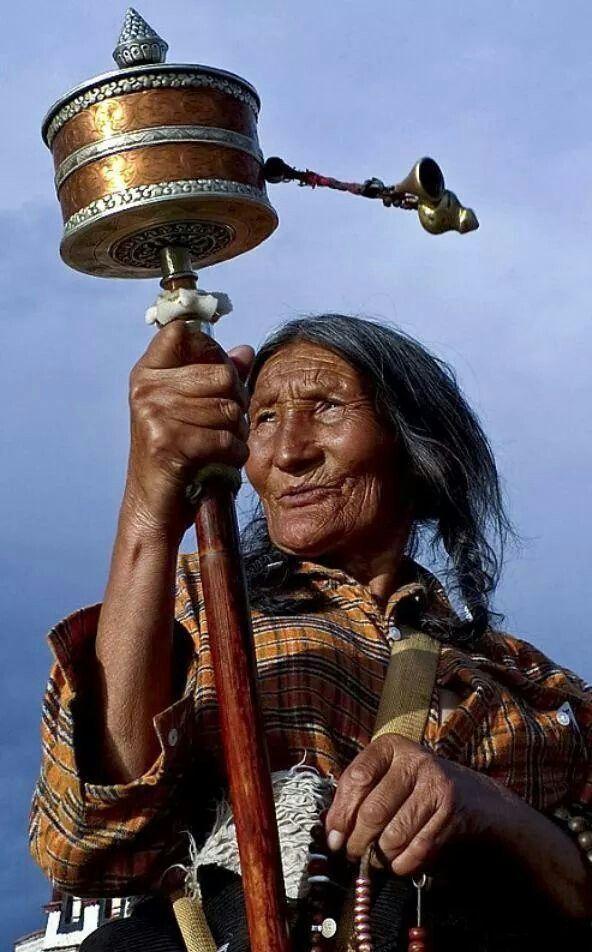 Shaman with Prayer wheel