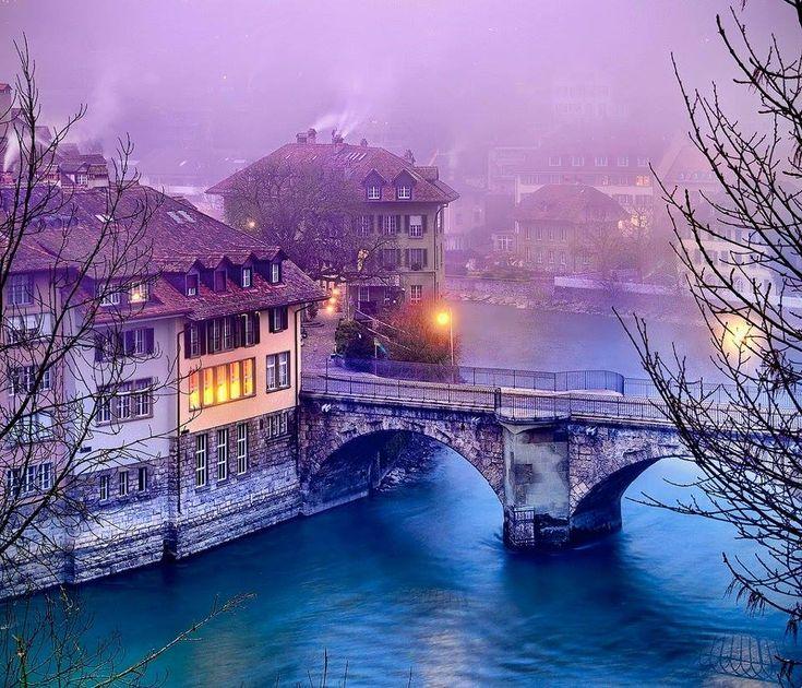 Bern at night, Switzerland