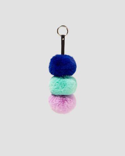 POMPOM bag charm for blue  backpack