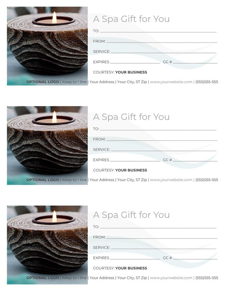Free gift certificate templates for massage and spa free