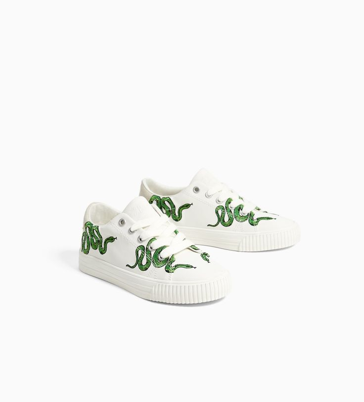 Image 5 of EMBROIDERED PLIMSOLLS from Zara