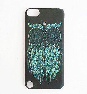 Unique Double Dream Catcher Green Night Owl Art ipod touch case