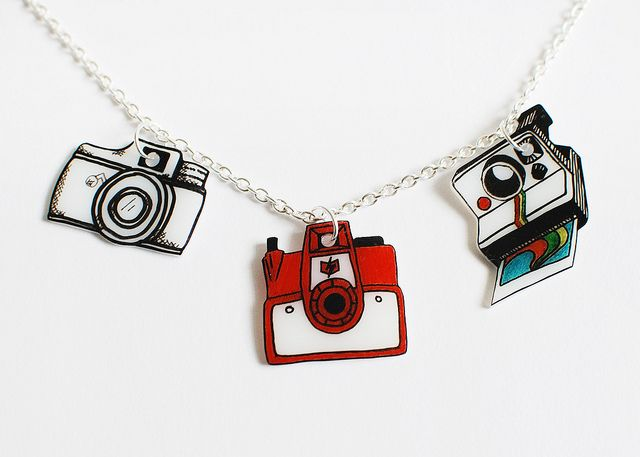 Shrinky dink camera charms