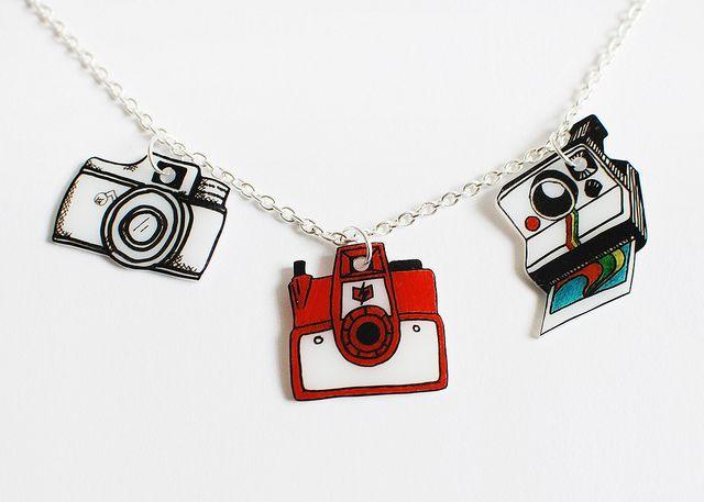 shrink plastic camera charms by Something Monumental