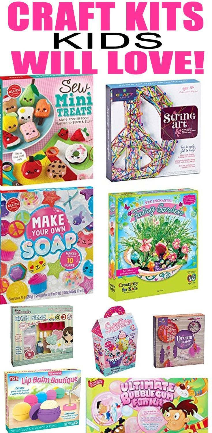 Craft Kits Kids Will Love Find DIY For Gifts Or To Do When You Are Bored Fun Activities Teens Tweens And Adults