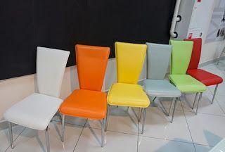 Мебельщик.РУ стеклянные столы и стулья для кухни: Новые разноцветные стульчики для кухни