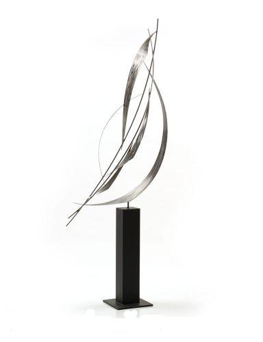 Crosswind - Freestanding Metal Sculpture - Outdoor Sculpture
