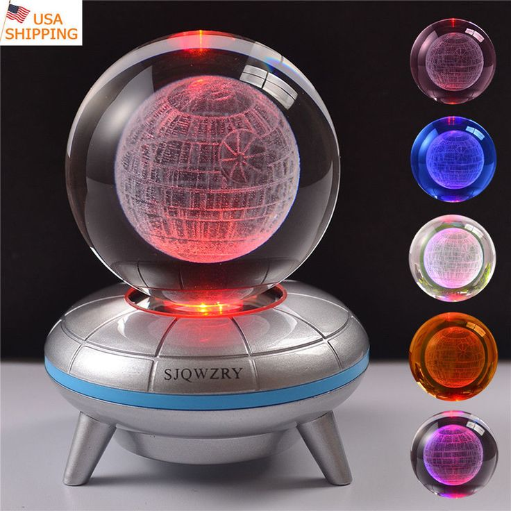 Star Wars Death Star 3D LED Crystal Ball Night Light Table Desk Lamp Crafts Gift #SJQWZRY #Modern3D