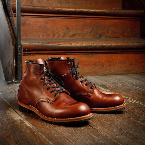 Red Wing 9016 Beckman Round Toe Cigar Featherstone Leather Boots. @menboots @redwingshoesrussia