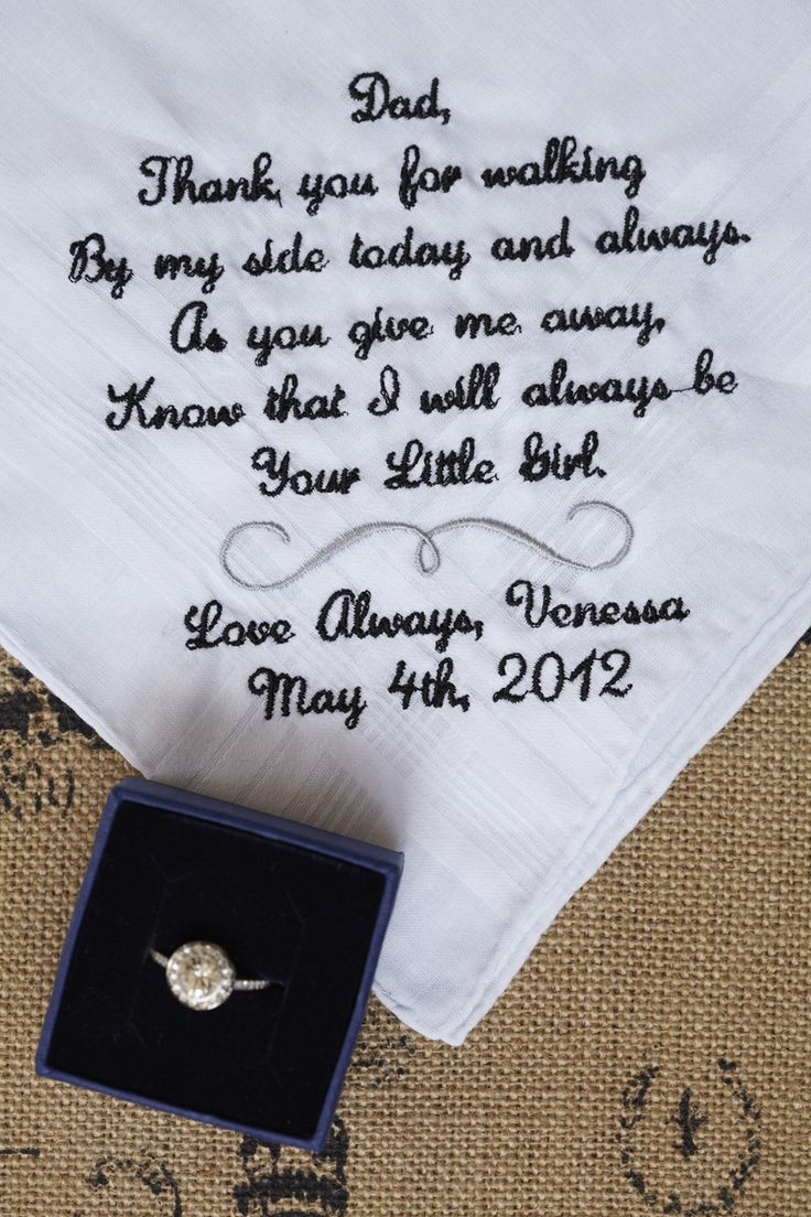 what a cute idea to have this handkerchief embroidered for my dad.