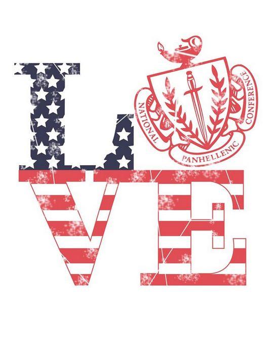Panhellenic loves America National Panhellenic Conference (NPC) Recruitment Shirts