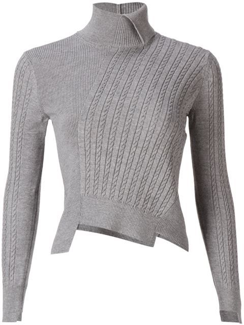 Shop Mihara Yasuhiro asymmetric cable-knit sweater in idea by SOSU from the world's best independent boutiques at farfetch.com. Shop 300 boutiques at one address.