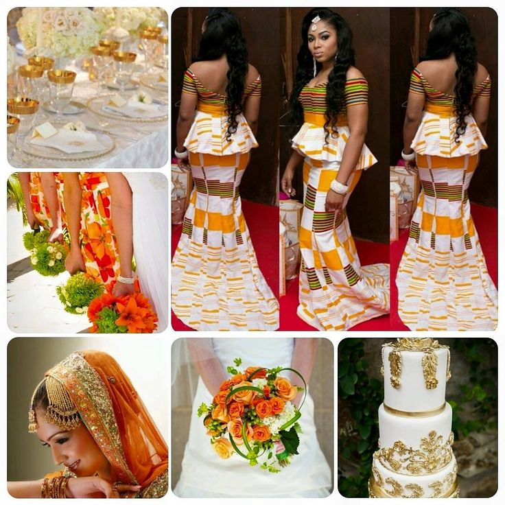 "Kente Wedding Gowns: A Palette Inspired By A ""Kente Princess"" With"