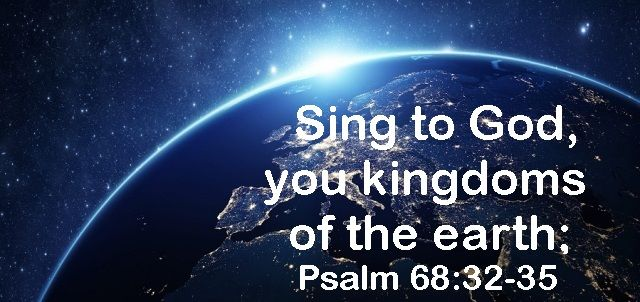 God Morning from Trinity,Texas Today is Saturday May 27, 2017  Day 147 on the 2017 Journey  Make It A Great Day, Everyday! Sing to God, you kingdoms of the earth;  Today's Scripture:Psalm 68:32-35 https://www.biblegateway.com/passage/?search=Psalm+68%3A32-35&version=NKJV Oh, sing praises to the Lord,.. Inspirational Song https://youtu.be/IV5Vdi_55OU