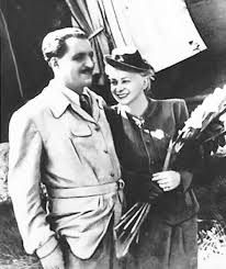 Valentina Serova and Konstantin Simonov. France, 1946