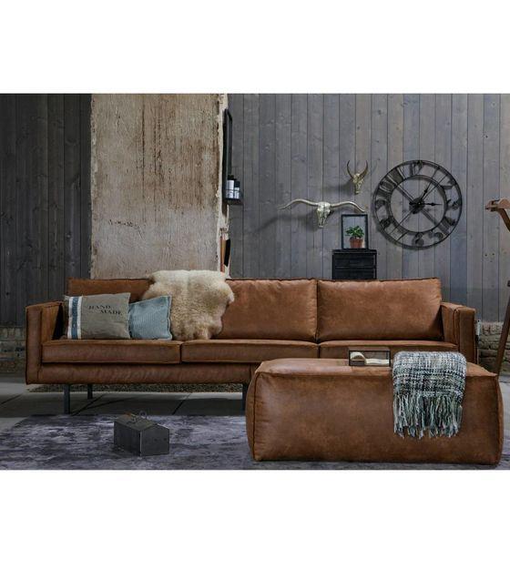 Wonderbaar Bank Rodeo 3-zits cognac bruin leer 78x274x87cm | Leather sofa PB-68