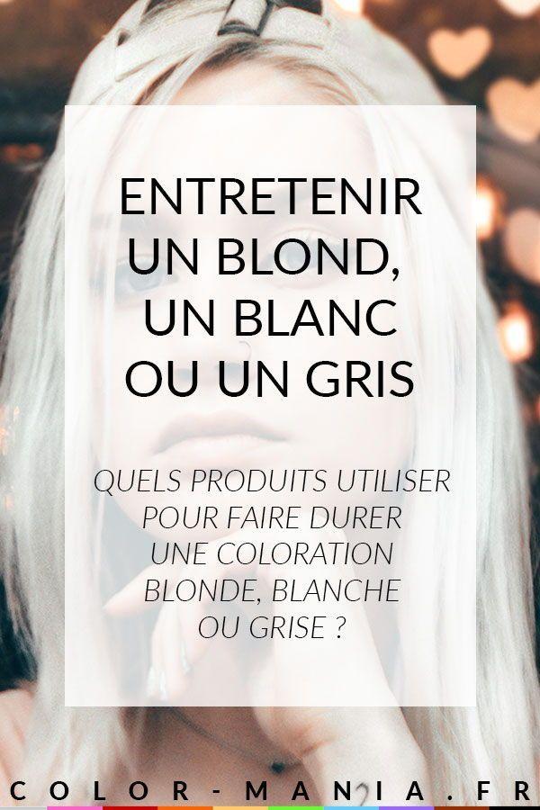 Remark entretenir une coloration grise, blanche ou blonde ?