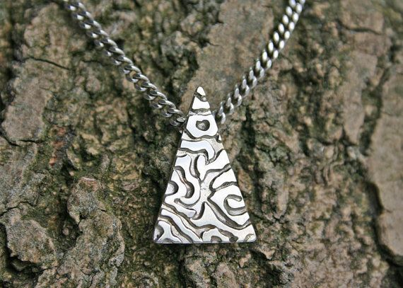 Silver Tiger Print Necklace  contemporary by SandersWeyden on Etsy