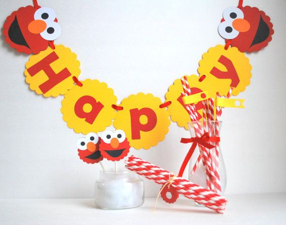 Birthday Elmo Party set Inspired ELMO party set  by Mariapalito