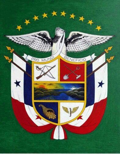 Nuevo escudo de Panamá con sus 10 estrellas. La última corresponde a la 10a.provincia de Panamá Oeste.