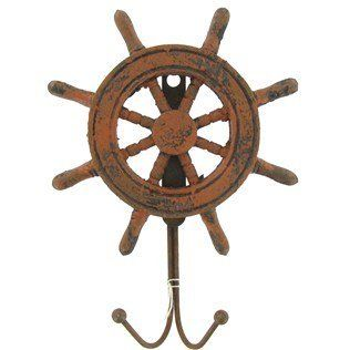 Pinewood Derby Supplies - Weathered Finish Pinewood Ship Steering Wheel Nautical Wall Hook *** You can find out more details at the link of the image.